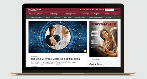 Toastmasters International Online Magazine August 2019