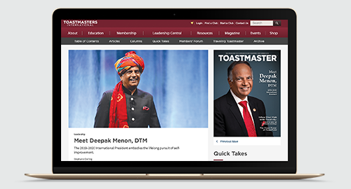 Photo: Toastmasters Online Magazine September 2019