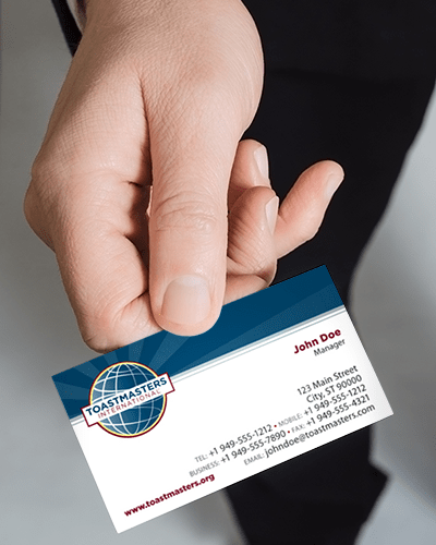 Toastmasters international branded business cards colourmoves