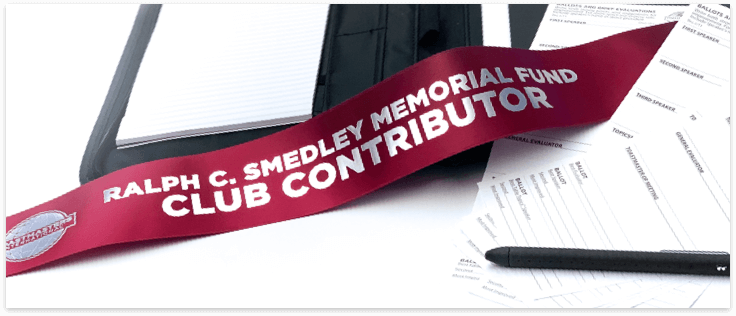 Smedley Fund Contributor Ribbon, Notebook, Documents and a Pen