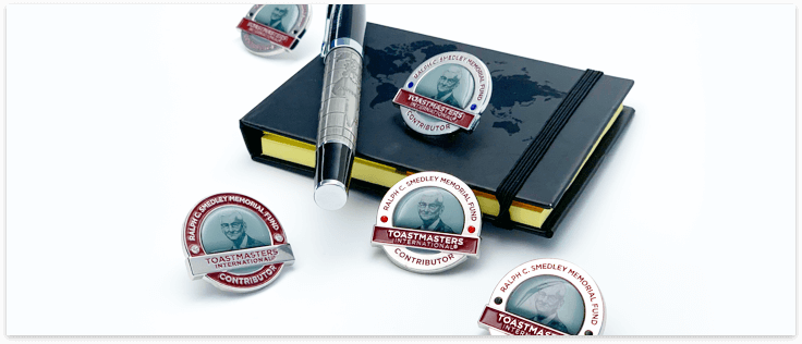 Smedley Fund Contributor Pins, Notebook and a Pen
