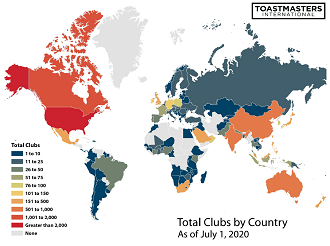 Total Clubs by Country 2017