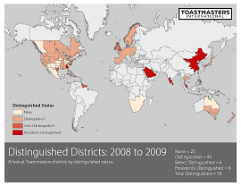 Distinguished Districts 2009