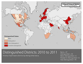 Distinguished Districts 2011
