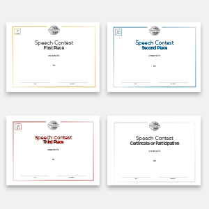 Speech Contest Certificate Set (Digital)