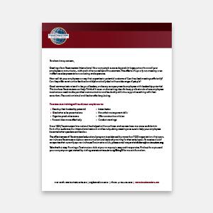 Corporate marketing letter