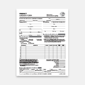 1205A Product Order Form image