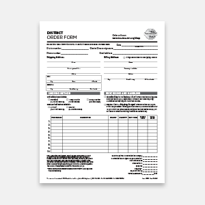 District Order Form