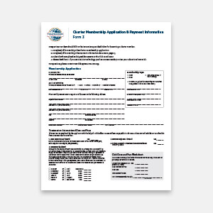 Form 3 Charter Membership Application  Membership Forms Templates