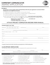 CC Award Application