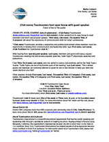toastmasters international club open house news release template