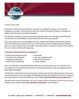 Corporate marketing letter