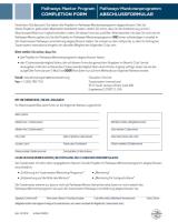 DE8951 - Mentor Program Completion Form