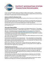 District Accounting System Transition Procedures
