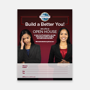 Toastmasters Open House Flier- African-American Female