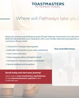Where Will Pathways Take You flier
