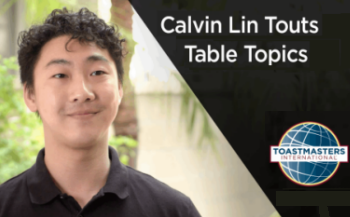 Calvin Lin Touts Table Topics video thumbnail