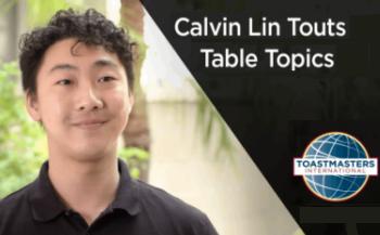Calvin Lin Touts Table Topics video thumbnail