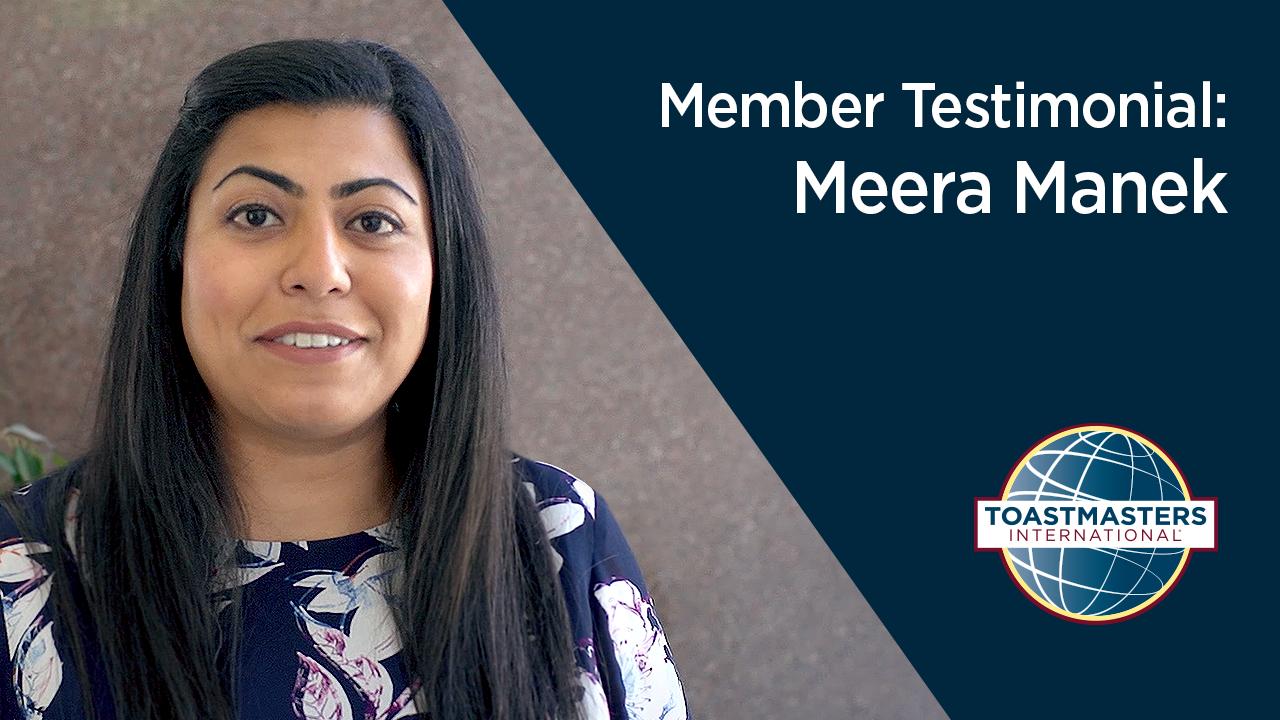 Member Testimonial Meera Manek
