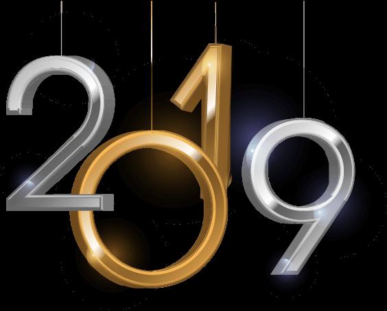 Dangling 2019 Numerals